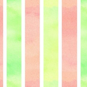 Peachy Green Stripe