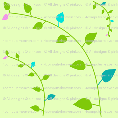 Popbi! - LimeSodaPop - Multi Leaves & Vines - © PinkSodaPop 4ComputerHeaven.com