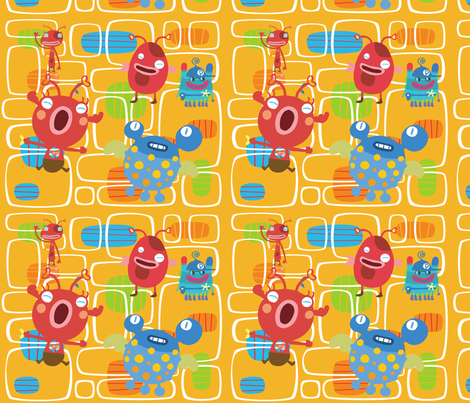 Alien Insects fabric by deeniespoonflower on Spoonflower - custom fabric