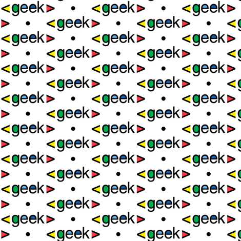 Geek computer nerds fabric by andibird on Spoonflower - custom fabric