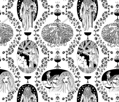 Tales of King Arthur fabric by uzumakijo on Spoonflower - custom fabric