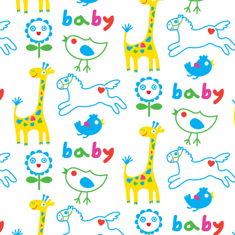 Baby Animals fabric by andibird on Spoonflower - custom fabric