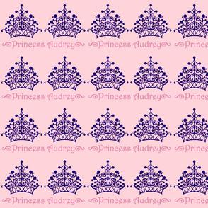 Purple on Pink Princess Audrey
