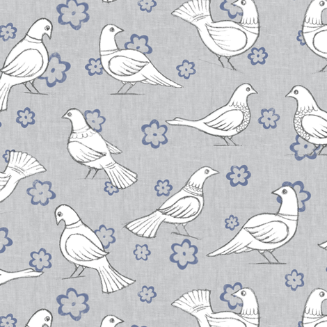 Summer Doves fabric by forest&sea on Spoonflower - custom fabric