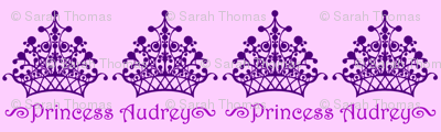 Purple on Purple Princess Audrey
