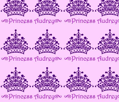 Purple on Purple Princess Audrey fabric by sarahthomas on Spoonflower - custom fabric