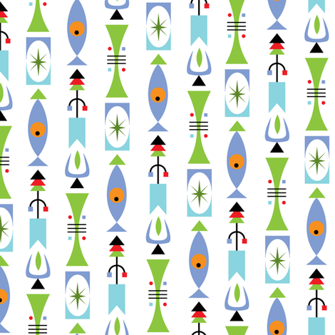 Retro Shape - cool fabric by andibird on Spoonflower - custom fabric