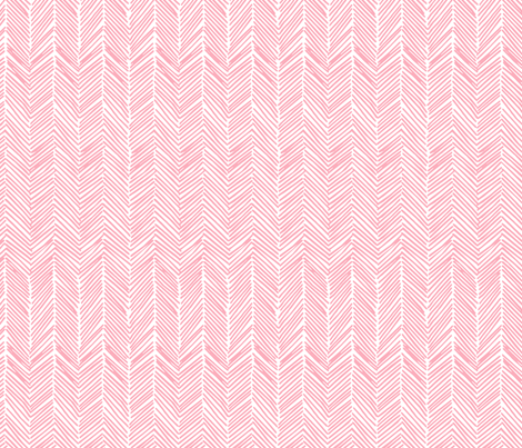 Freeform Arrows in soft coral fabric by domesticate on Spoonflower - custom fabric