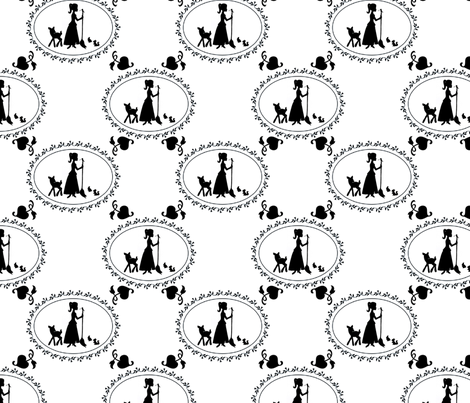 Cinderella & Friends fabric by delsie on Spoonflower - custom fabric