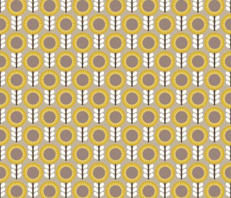 Flower Scales gold-grey fabric by kayajoy on Spoonflower - custom fabric