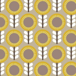 Flower Scales gold-grey
