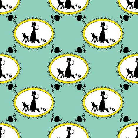 Just whistle while you work fabric by delsie on Spoonflower - custom fabric