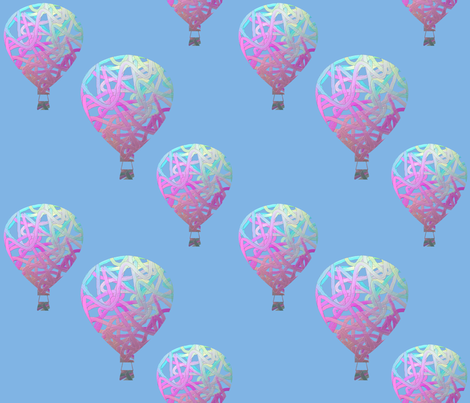 Sky balloons, large by Su_G fabric by su_g on Spoonflower - custom fabric