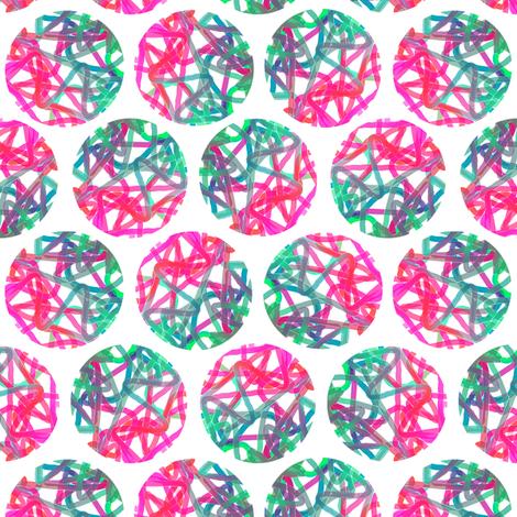 Bright star polka on white by Su_G fabric by su_g on Spoonflower - custom fabric