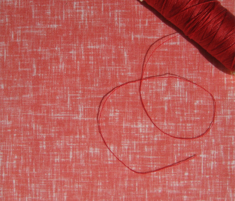 (NOW LARGER) Red linen-weave, essential basic texture by Su_G