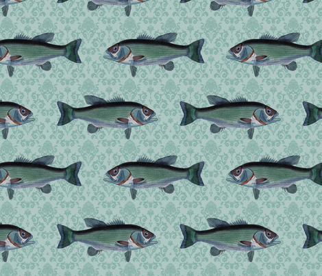 Fish fabric by design_jessica on Spoonflower - custom fabric