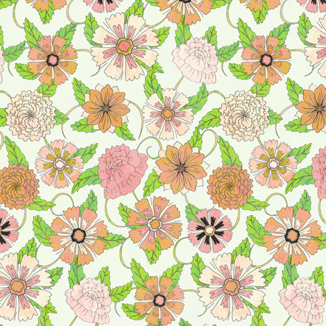 Light Summer Flowers fabric by kezia on Spoonflower - custom fabric