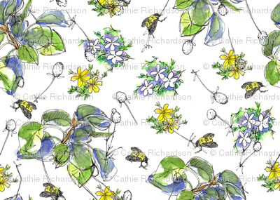 Bees and Leaves