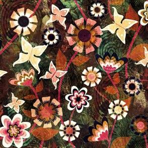 Folk Floral Texture