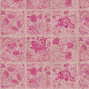 Palace Garden | Jaipur Pink Woodblock Tile