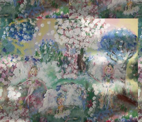 Snow Fairies fabric by myartself on Spoonflower - custom fabric