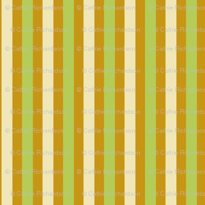 Goldenrod Avocado Stripe