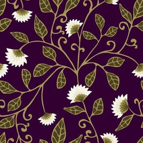 Aubergine Vine Fabric