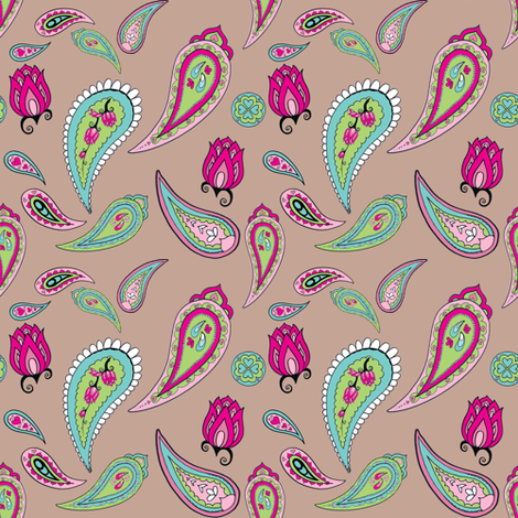 Springtime Paisley fabric by delsie on Spoonflower - custom fabric