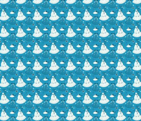 Blue & White Fantasy fabric by eppiepeppercorn on Spoonflower - custom fabric