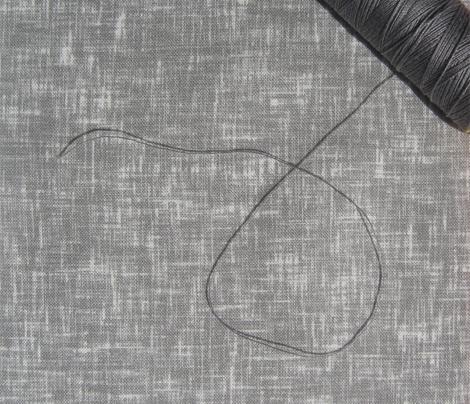 Silver + white linen-weave, medium by Su_G