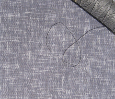 LARGE Dove-gray + white linen-weave by Su_G_©SuSchaefer