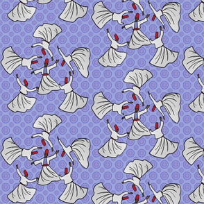 A whirl of dervishes on periwinkle by Su_G_©SuSchaefer