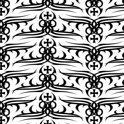 Tattoo  fabric by andibird on Spoonflower - custom fabric