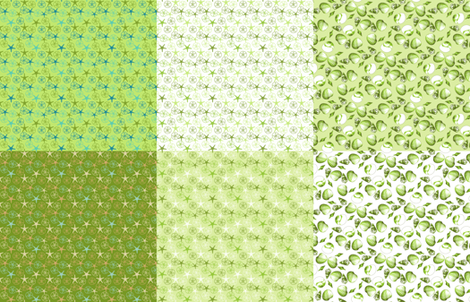 Sea Gifts/Shell-Mell x6 Sampler - Seaweed fabric by inscribed_here on Spoonflower - custom fabric