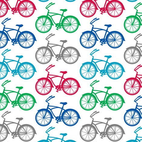 Bicycle Cruiser  fabric by andibird on Spoonflower - custom fabric
