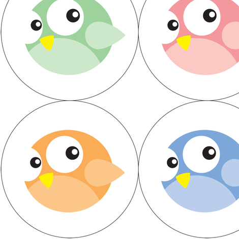 Round Birdie Ornaments fabric by fruitcakedesigns on Spoonflower - custom fabric