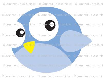 Round Blue Birdies