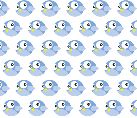 Round Blue Birdies fabric by fruitcakedesigns on Spoonflower - custom fabric