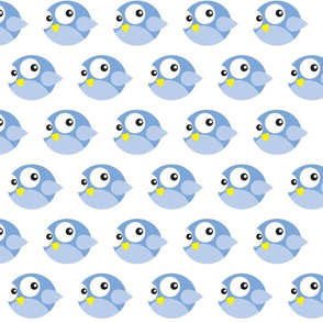 Round Blue Birdies