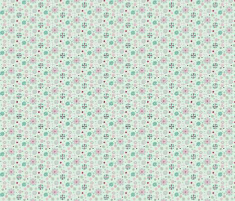 chinesemedallion_mintypink fabric by tractorgirl on Spoonflower - custom fabric