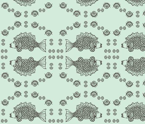 car(p) in aqua fabric by ndesigns on Spoonflower - custom fabric