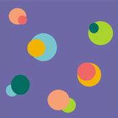 bubbles in purple