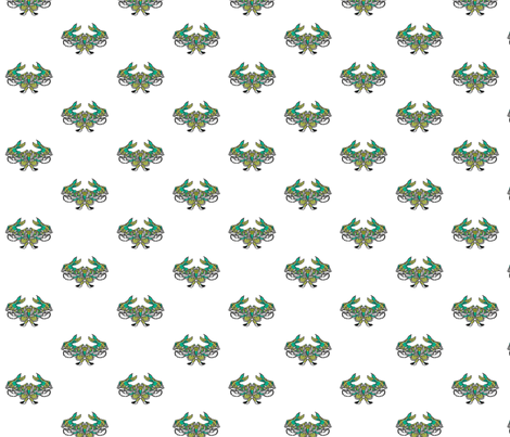 rabbits fabric by lisa_ryder on Spoonflower - custom fabric