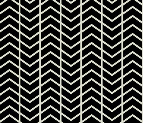 chevron stripe black and champagne fabric by ninaribena on Spoonflower - custom fabric