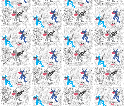 cat fabric by sandylovez on Spoonflower - custom fabric