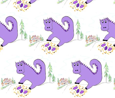 DragonPurple fabric by scoutmom131 on Spoonflower - custom fabric