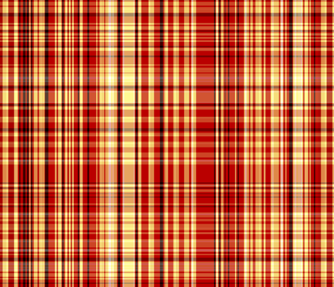 Red & Yellow Plaid fabric by pond_ripple on Spoonflower - custom fabric