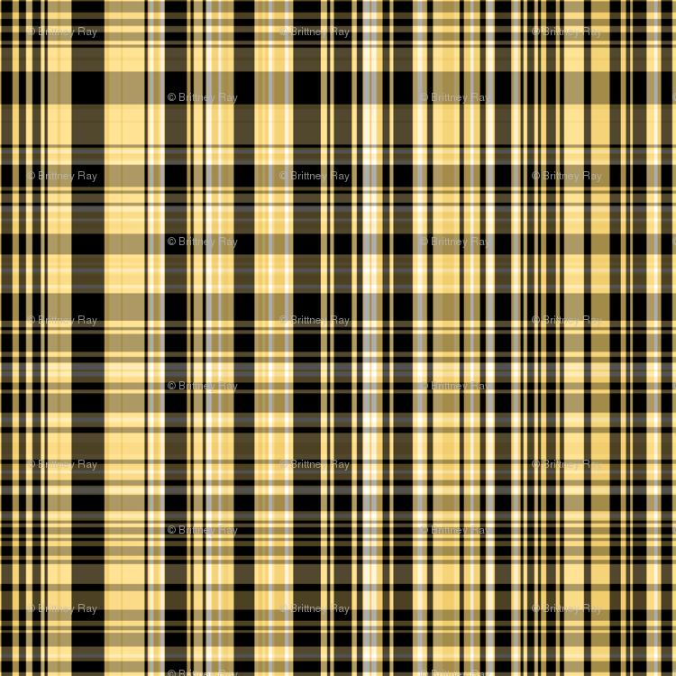 Yellow & Black Plaid fabric - pond_ripple - Spoonflower