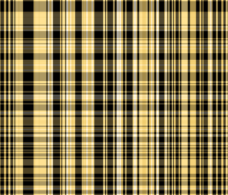 Yellow & Black Plaid fabric by pond_ripple on Spoonflower - custom fabric