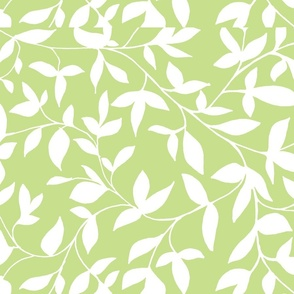 green and white vine with leaves